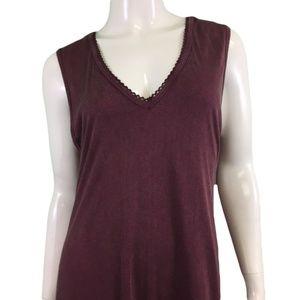 NWT Nostalgia Burgundy Fringe Dress